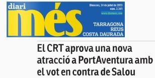El CRT aprueba una nueva atracción en PortAventura con el voto en contra de Salou
